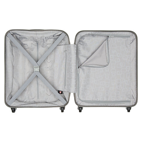 Buy Delsey Helium 4-Wheel Cabin Trolley Suitcase, Silver Grey Online at johnlewis.com