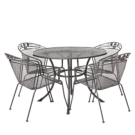 Buy John Lewis Henley by Kettler 4 Seater Round Outdoor Dining Table Online at johnlewis.com