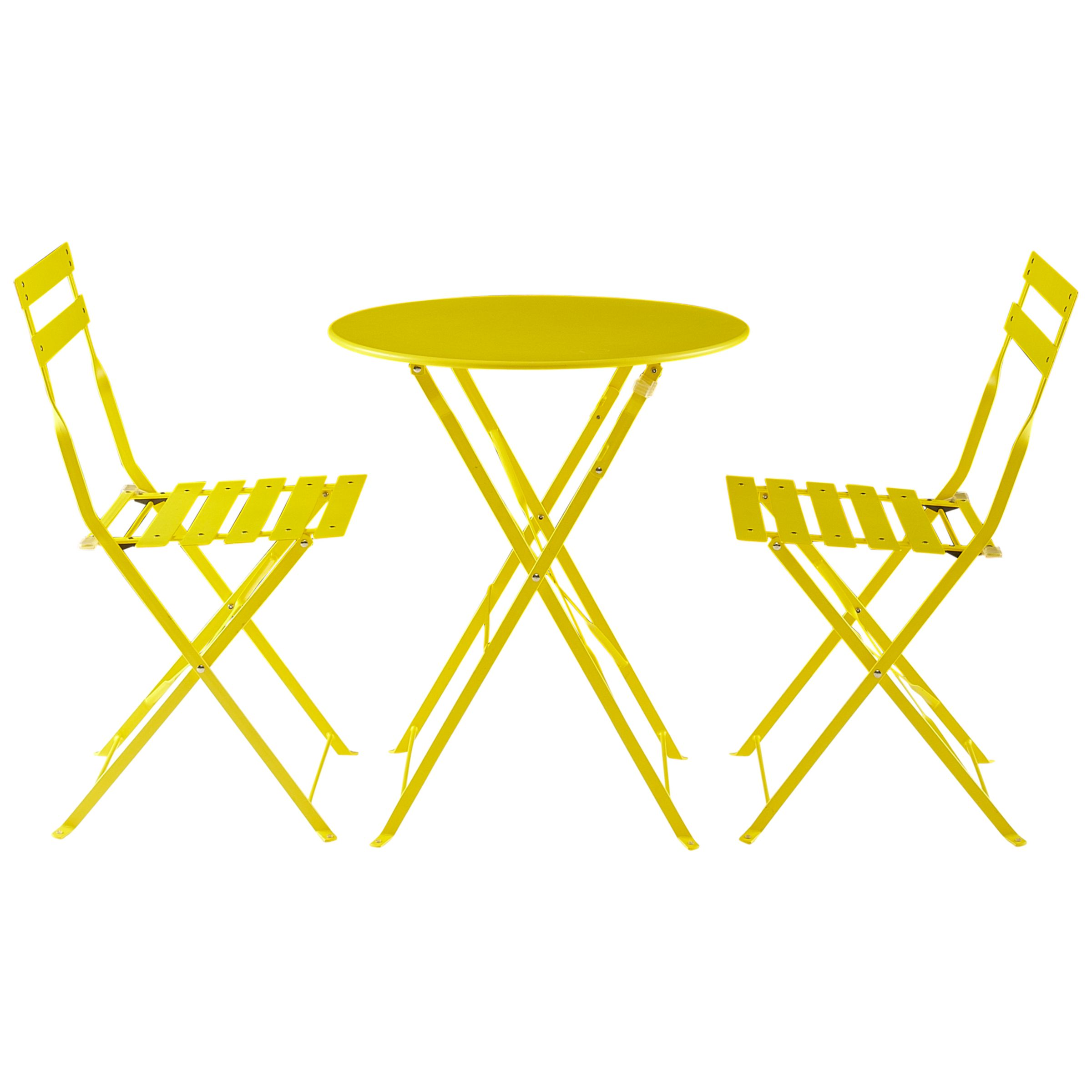 House by John Lewis Soho Round 2 Seater Outdoor Bistro Sets, Yellow