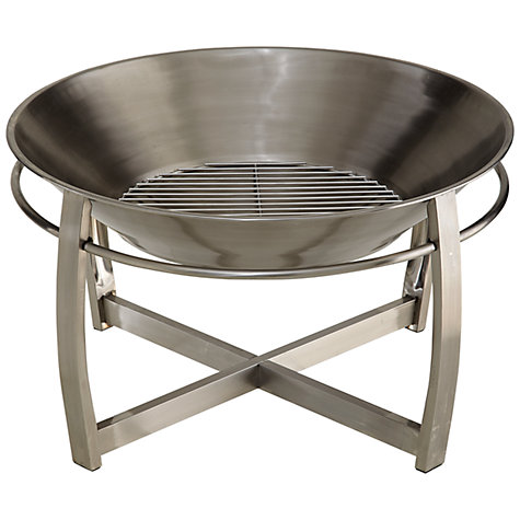 Buy La Hacienda Tartarus Stainless Steel Firepit Online at johnlewis.com