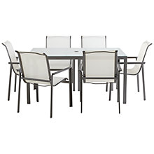 Buy John Lewis Milo Rectangular 6 Seater Outdoor Dining Set, White Online at johnlewis.com