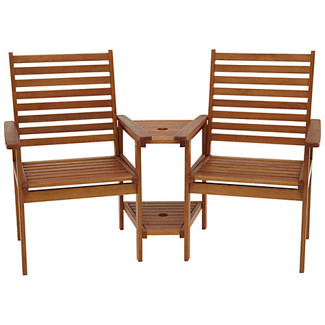 Buy John Lewis Naples Outdoor Love Seats Online at johnlewis.com