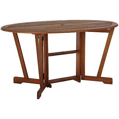John Lewis Naples Oval 6 Seater Gateleg Dining Table