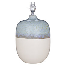 Buy John Lewis Aisha Lamp Base, Blue/ White Online at johnlewis.com