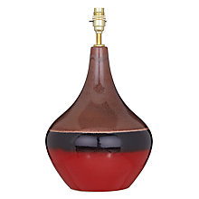 Buy John Lewis Faro Tall Lamp Base, Red Online at johnlewis.com