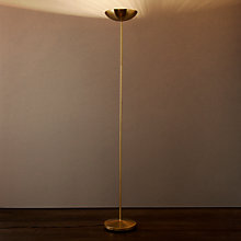 Buy John Lewis Harris Tilt-up Floor Lamp, Satin Brass Online at johnlewis.com