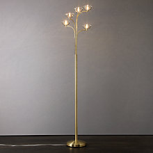 Buy John Lewis Lily Floor Lamp, Satin Brass Online at johnlewis.com