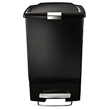 Buy simplehuman Rectangular Plastic Pedal Bin, 45L Online at johnlewis.com
