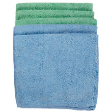 Buy John Lewis Microfibre Cleaning Cloths, Pack of 5 Online at johnlewis.com