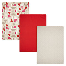 Buy House by John Lewis Cotton Tea Towels, Set of 3, Multi Online at johnlewis.com