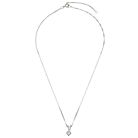 Buy Jools by Jenny Brown Cubic Zirconia Pendant Necklace, Silver Online at johnlewis.com