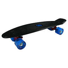 Buy Krunk Retro Mini Skateboard, Black/Blue Online at johnlewis.com