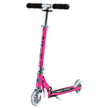 Buy Micro Scooters Micro Sprite Scooter, Pink Online at johnlewis.com