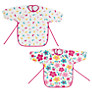 John Lewis Baby Happy Mix Terry Bibs, Pack of 2, Pink