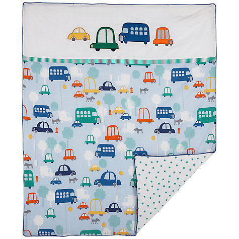 Buy John Lewis Train Cotbed Quilt Online at johnlewis.com