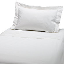 Buy John Lewis Oxford Pleated Cotbed Duvet Cover and Pillowcase Set, White Online at johnlewis.com