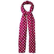 Buy White Stuff Dotty Scarf, Crimson Petal Online at johnlewis.com