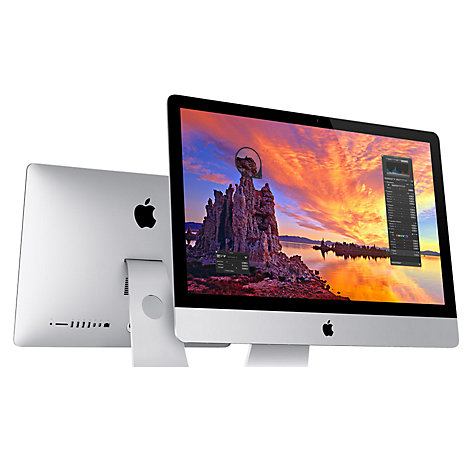 "Buy Apple iMac ME087B/A All-in-One Desktop Computer, Quad-core Intel Core i5, 8GB RAM, 1TB, 21.5"" Online at johnlewis.com"