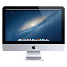 "Buy New Apple iMac ME086B/A All-in-One Desktop Computer, Intel Core i5, 8GB RAM, 1TB, 21.5"" Online at johnlewis.com"
