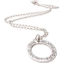 Buy FingerPrint Jewellery Oval Cluster Ring Necklace Online at johnlewis.com