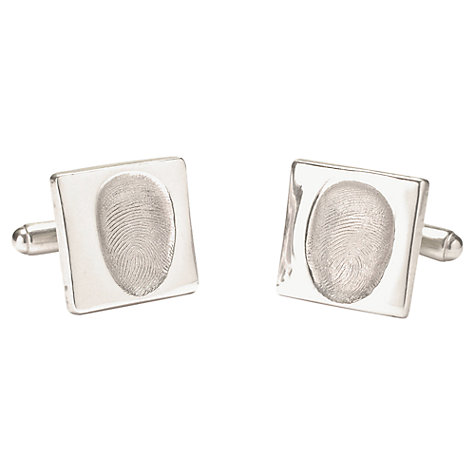 Buy FingerPrint Jewellery Square Fingerprint Cufflinks Online at johnlewis.com