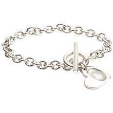 Buy FingerPrint Jewellery Heart Charm T-Bar and Ring Bracelet Online at johnlewis.com