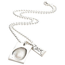 Buy FingerPrint Jewellery Dog Tag and Name Tag Necklace Online at johnlewis.com