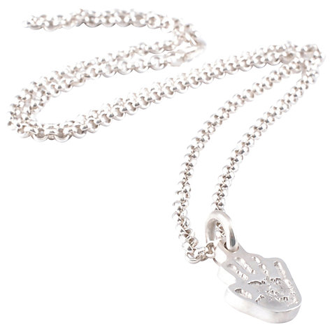 Buy FingerPrint Jewellery Single Handprint Charm Necklace, Silver Online at johnlewis.com