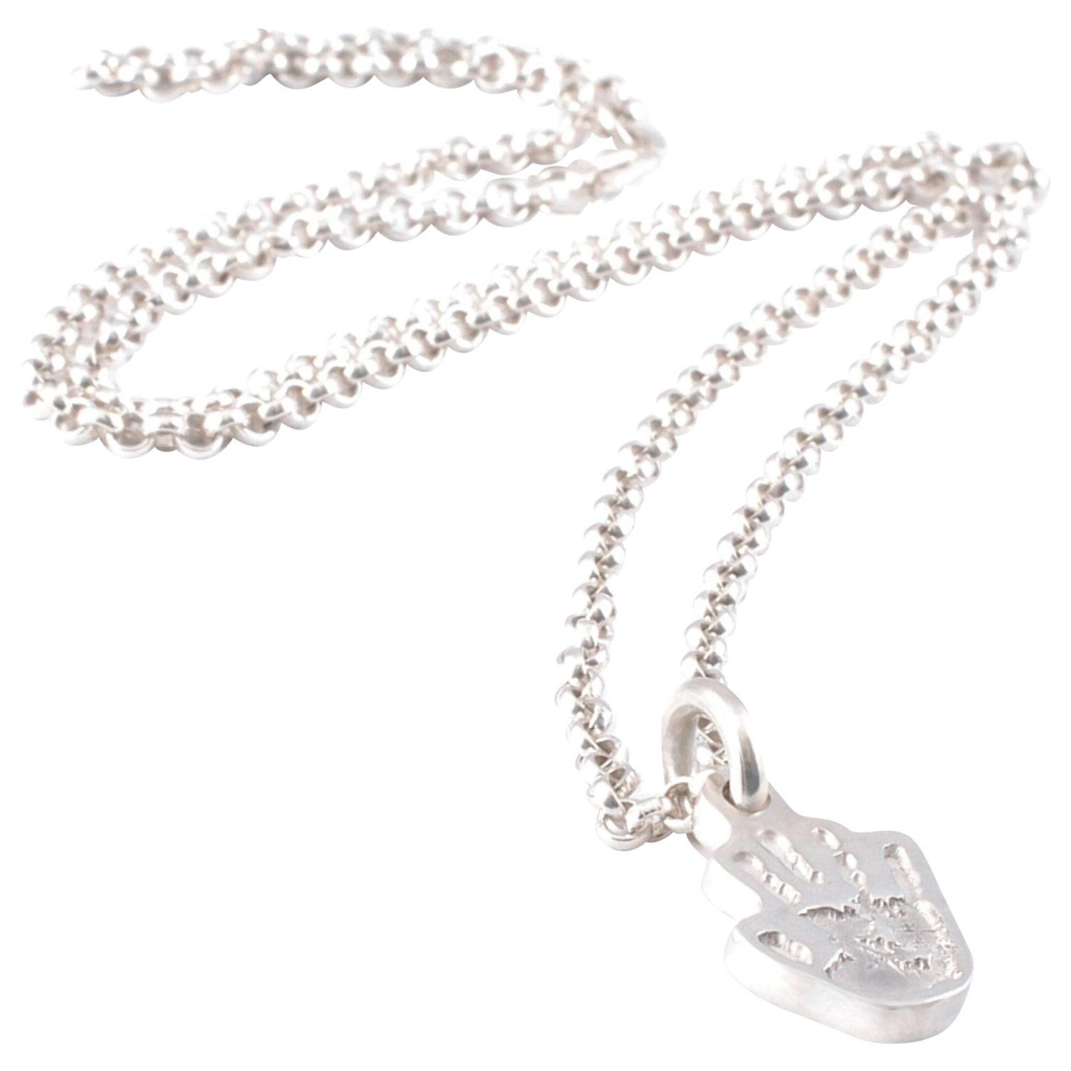 FingerPrint Jewellery FingerPrint Jewellery Single Handprint Charm Necklace, Silver