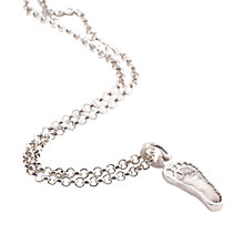 Buy FingerPrint Jewellery Single Footprint Charm Necklace, Silver Online at johnlewis.com