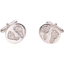 Buy FingerPrint Jewellery Ten Tiny Toes Circle Cufflinks Online at johnlewis.com
