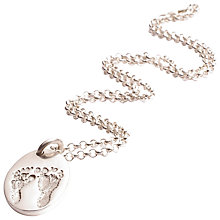 Buy FingerPrint Jewellery Ten Tiny Toes Oval Pendant Necklace Online at johnlewis.com