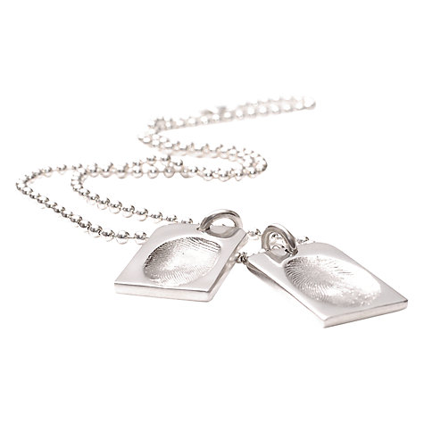 Buy FingerPrint Jewellery Two Fingerprints Dog Tag Necklace Online at johnlewis.com