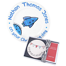 Buy Personalised Ceramic Plate and Boxed Gift Voucher Online at johnlewis.com
