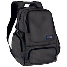 "Buy JanSport Hauler 15"" Laptop Backpack, Forge Grey Online at johnlewis.com"