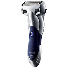 Buy Panasonic ES-SL41 Milano 3-Blade Wet and Dry Shaver, Silver/Blue Online at johnlewis.com