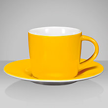Buy John Lewis Coloursphere Espresso Cup and Saucer Online at johnlewis.com