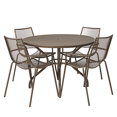 EMU Ala Mesh 4 Seater Outdoor Dining Set, Bronze