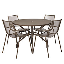 Buy EMU Ala Mesh 4 Seater Outdoor Dining Set, Bronze Online at johnlewis.com