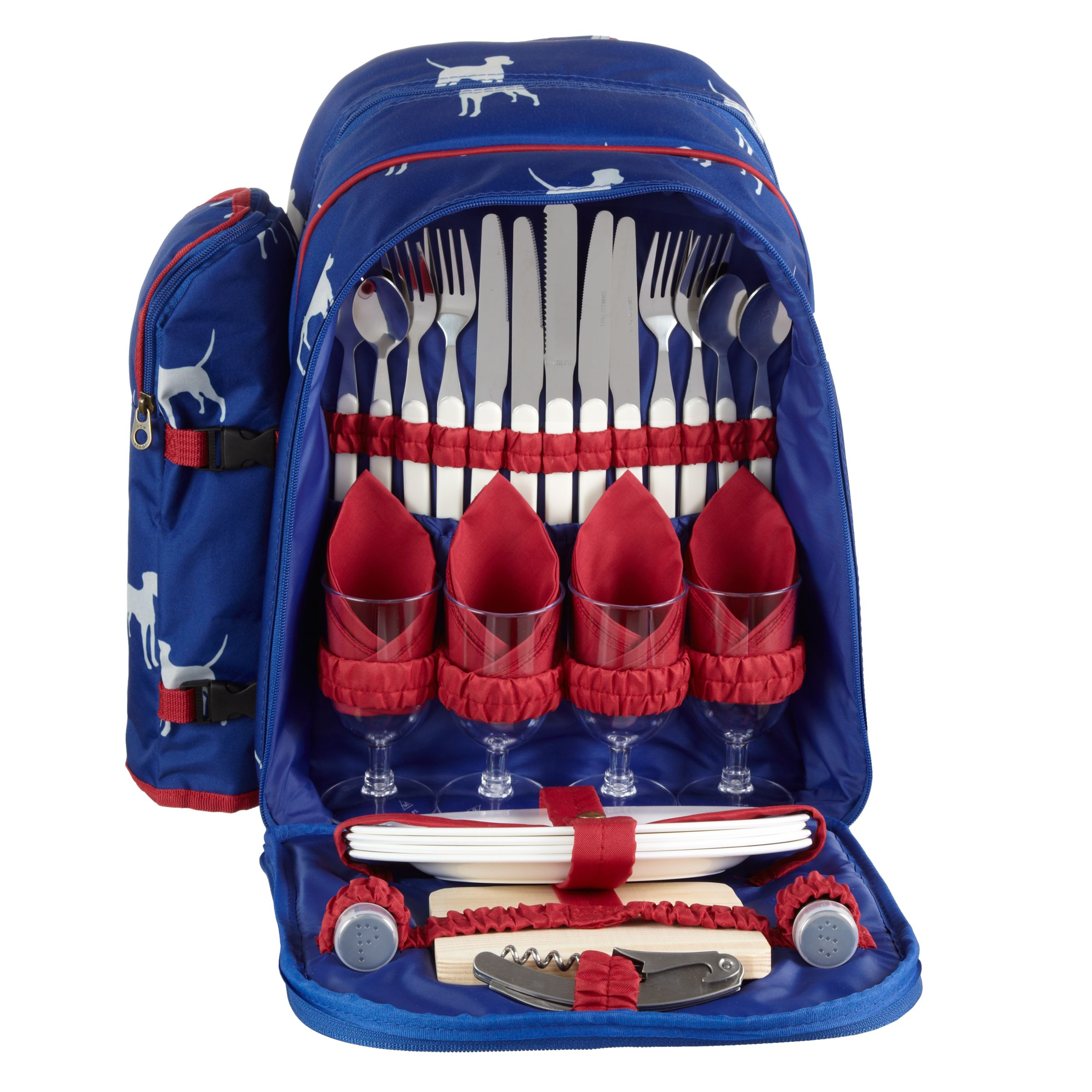 Joules Dog Filled Picnic Backpack, Multi
