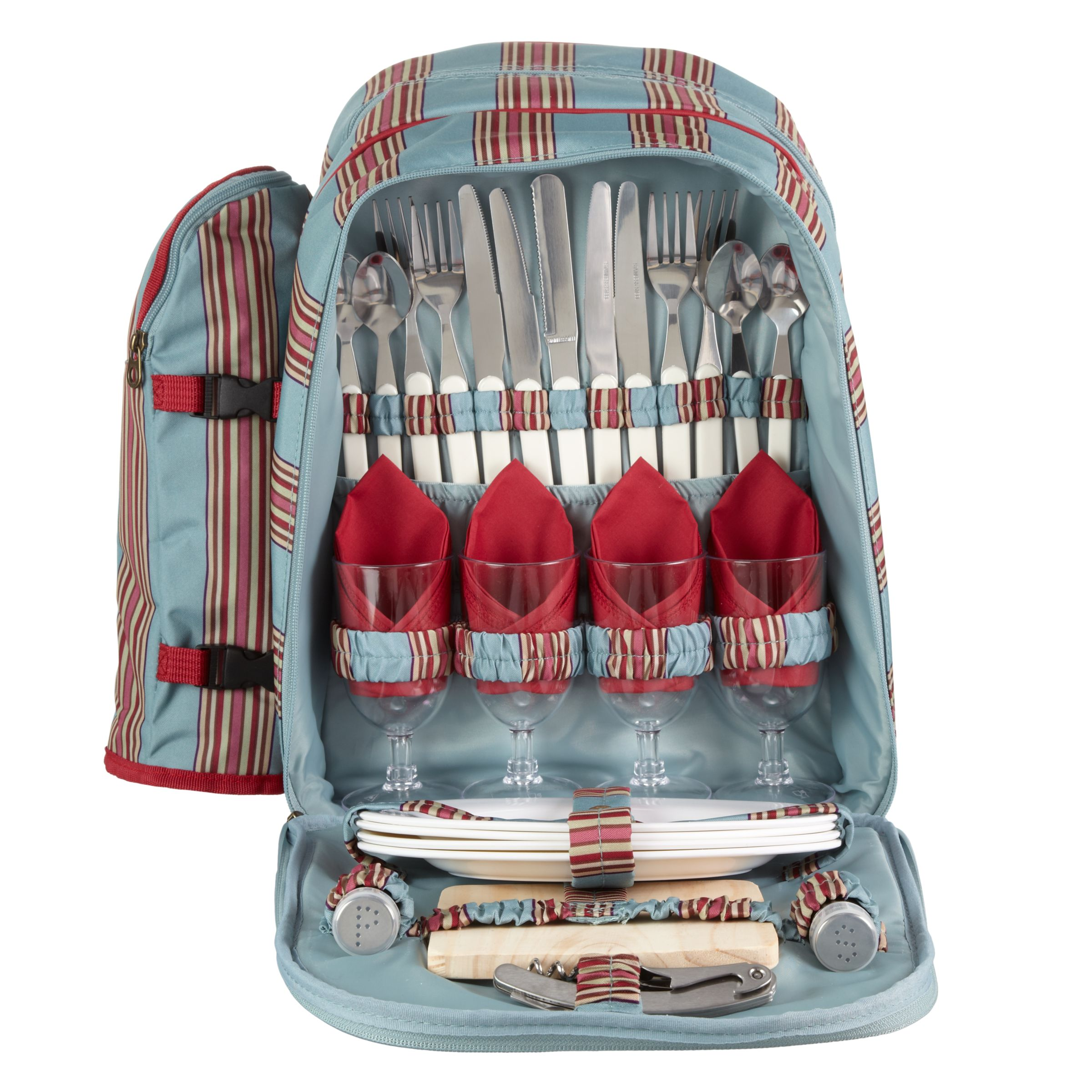 Joules Stripe Filled Picnic Backpack, Multi