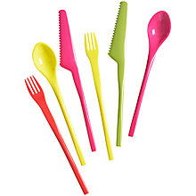 Buy House by John Lewis Picnic Cutlery Set, 6 Piece, Multi Online at johnlewis.com