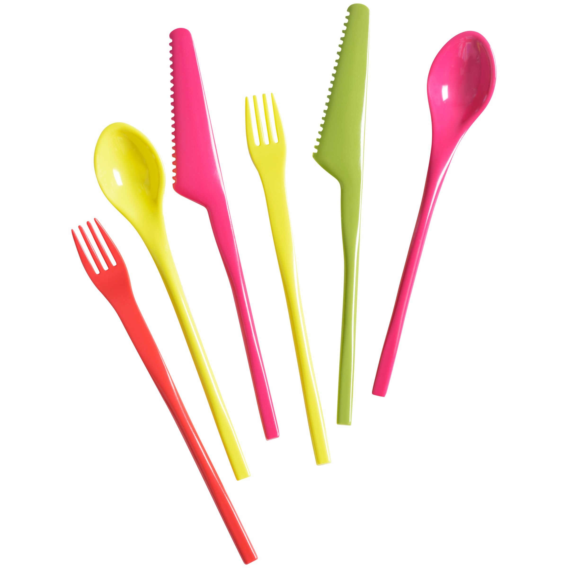 House by John Lewis Picnic Cutlery Set, 6 Piece, Multi