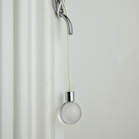 Buy John Lewis Acrylic and Glass Effect Acorn Ball Cord Pull, Clear Online at johnlewis.com