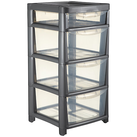 Buy John Lewis Tower Storage, Mobile Unit, 4 Drawers, H77.5cm Online at johnlewis.com