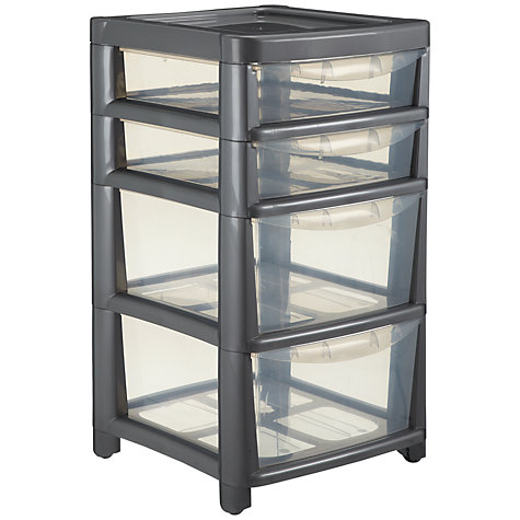 Buy John Lewis Tower Storage, Mobile Unit, 4 Drawers, H64.5cm Online at johnlewis.com