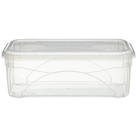 Buy John Lewis Clear Plastic Lidded Storage Box, 11L Online at johnlewis.com