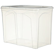 Buy John Lewis Clear Plastic Lidded Storage Box, 150L Online at johnlewis.com