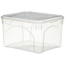 Buy John Lewis Clear Plastic Lidded Storage Box, 30L Online at johnlewis.com