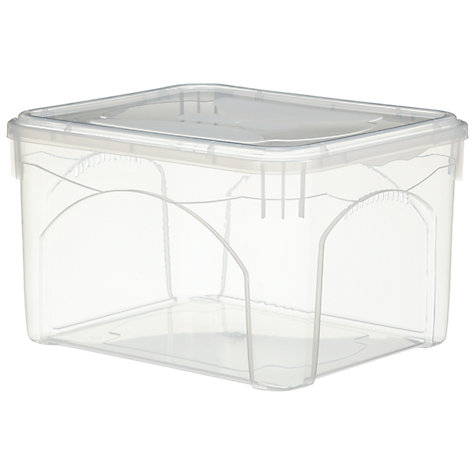Buy John Lewis Clear Plastic Lidded Storage Boxes Online at johnlewis.com